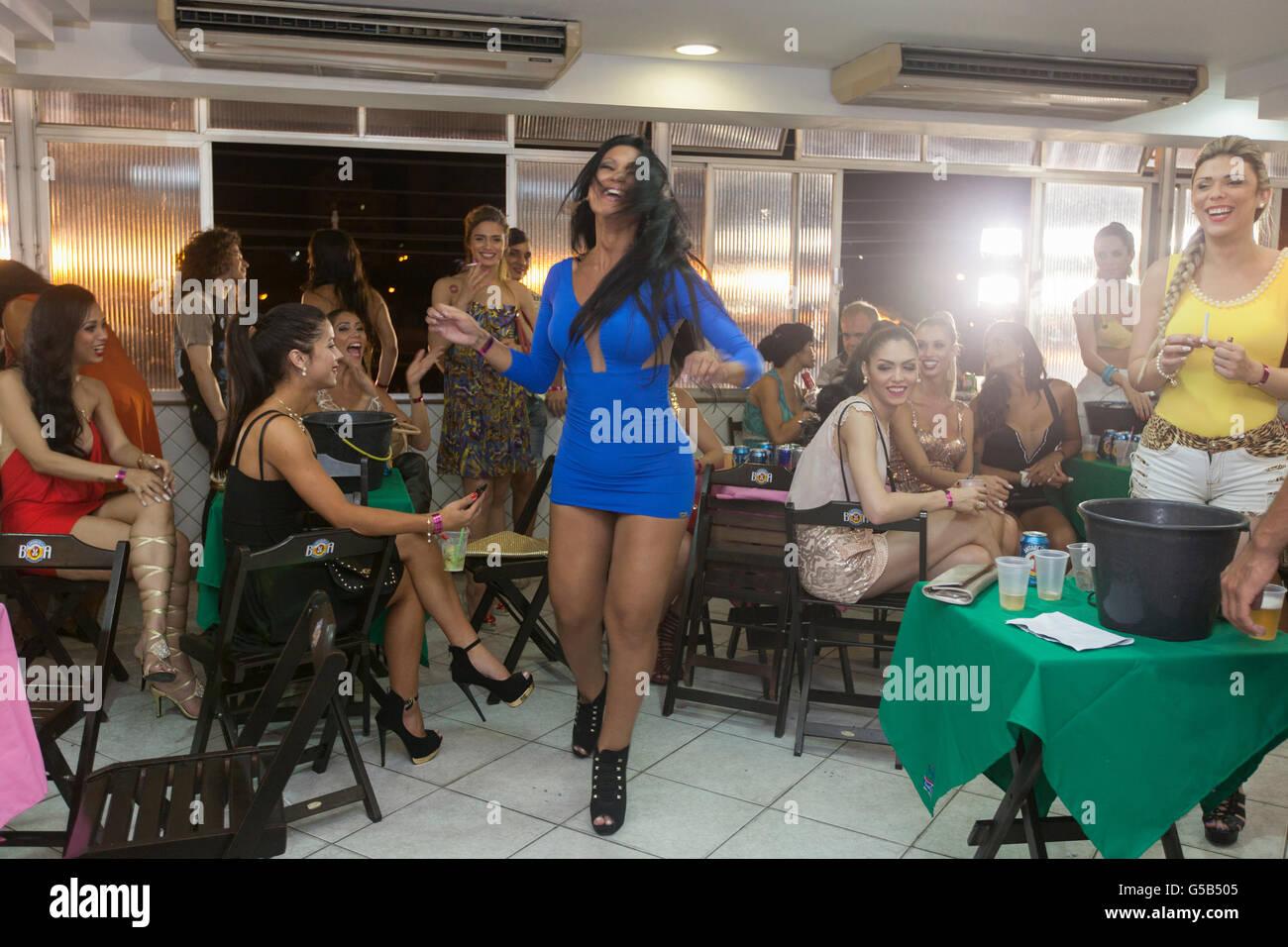 Girls In Night Club In Rio De Janeiro Brazil