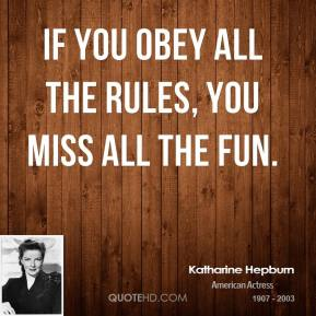 You Obey All The Rules U Miss
