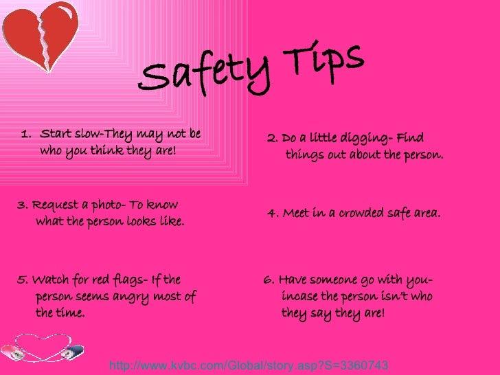 Safe Internet Dating Tips
