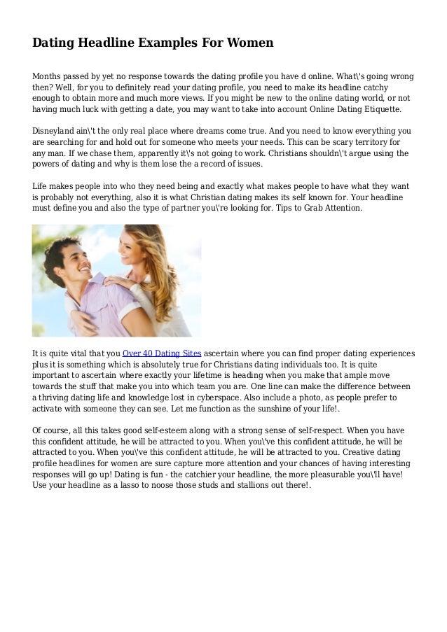 Earn Dating Tips Headline Online Profile