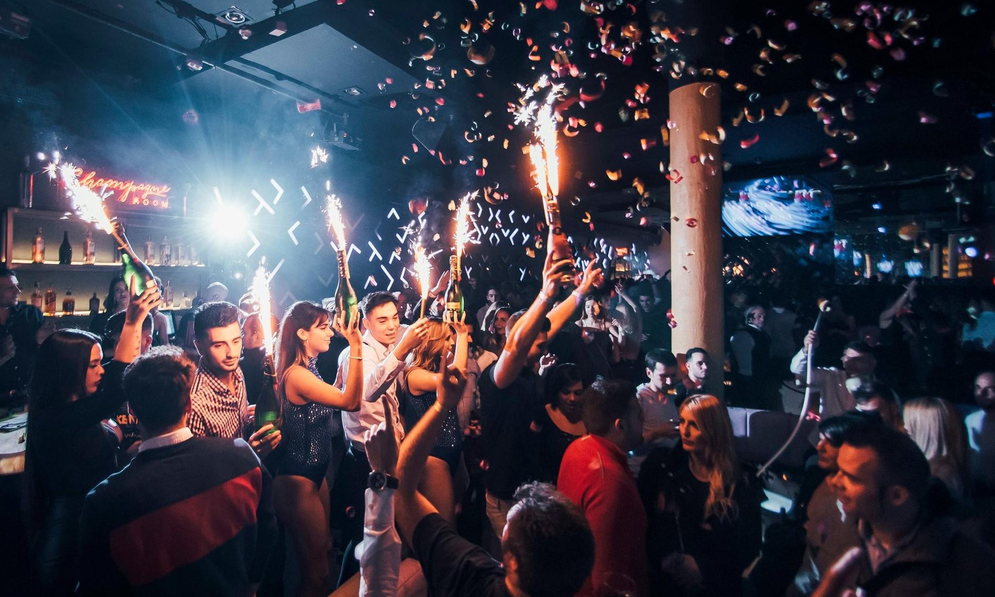 Girls In Night Club In Spain